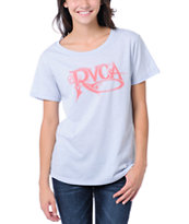 RVCA Girls Roaring 20s Light Blue Tee Shirt