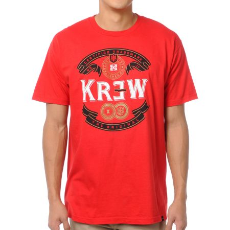 KR3W Superior Red Tee Shirt