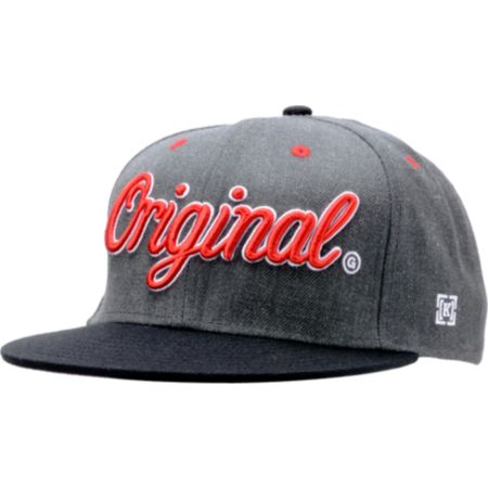 KR3W Original Charcoal & Black Snapback Hat