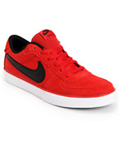 Nike Mavrk Low Gym Red, Black & White Skate Shoe