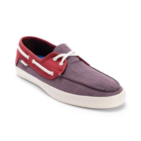 Vans Chauffeur Striped Russet Brown Boat Shoe