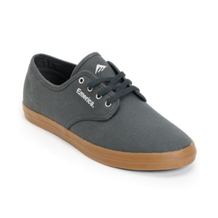 Emerica Wino Grey & Gum Canvas Shoe