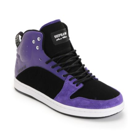 Supra S1W Stevie Williams Purple & Black Mid Top Shoe