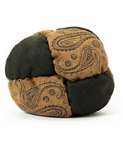 Adventure Imports Paisley 8 Panel Green & Tan Footbag