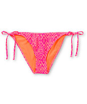 Empyre Girls Coral & Fuchsia Tribal Side Tie Bikini Bottom