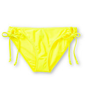 Empyre Girls Oslo Neon Yellow Tunnel Tie Bikini Bottom
