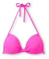 Empyre Girls Variant Hot Pink Crochet Molded Cup Bikini Top