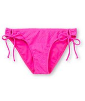 Empyre Girls Oslo Hot Pink Crochet Tunnel Tie Bikini Bottom