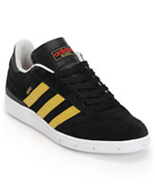 Adidas Busenitz Black, Red & Gold Skate Shoe