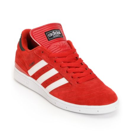 Adidas Busenitz Vulc University Red & White Skate Shoe