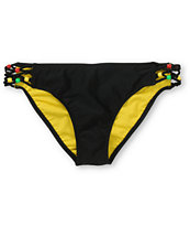 Empyre Girls Maldives Black & Rasta Tab Side Bikini Bottom