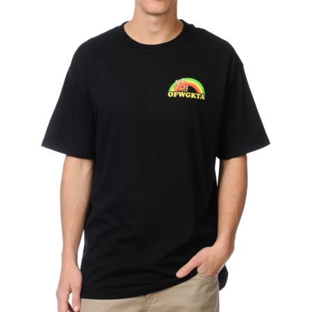 Odd Future Rainbow Cat Black Tee Shirt