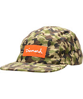 Diamond Supply OG Script Camo 5 Panel Hat