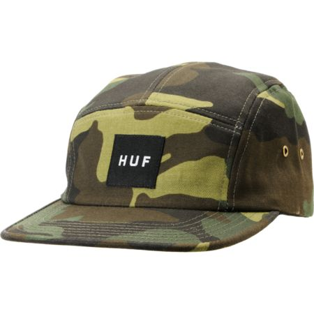 Huf Woodland Camo Box Logo 5 Panel Hat