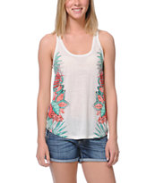 Empyre Girls Casey Aloha Tropical Print Racerback Tank Top