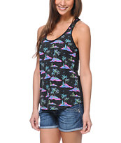 Empyre Girls Casey All Aloha Tropical Print Racerback Tank Top