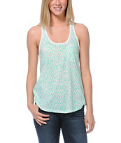 Empyre Girls Casey Neon Mint Tribal Print Racerback Tank Top