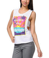 Empyre Lauryn Beach White Muscle Tank Top