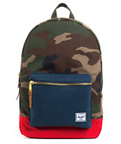 Herschel Supply Settlement Woodland Camo & Navy Backpack