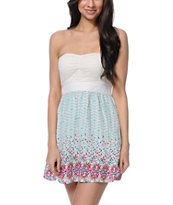 Empyre Girls Nia Border Print Strapless Dress