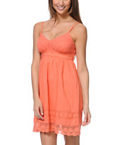 Empyre Girls Kalli Coral Crochet Dress