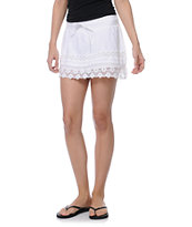 Empyre Jeslynn Lace Trim White Skirt