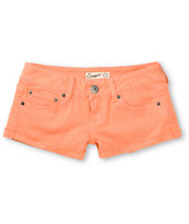 Empyre Girls Dani Coral Denim Shorts