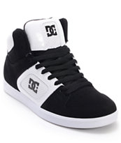 DC Union Hi Black Suede & White Leather Skate Shoe