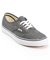 Vans Authentic Black Chambray Shoe