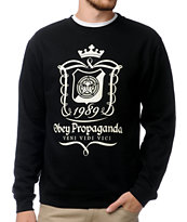 Obey Conqueror Black Crew Neck Sweatshirt