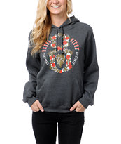 REBEL8 Girls Live Or Let Die Charcoal Pullover Hoodie