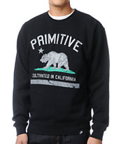 Primitive Cultivated Apocalypse Black Crew Neck Sweatshirt