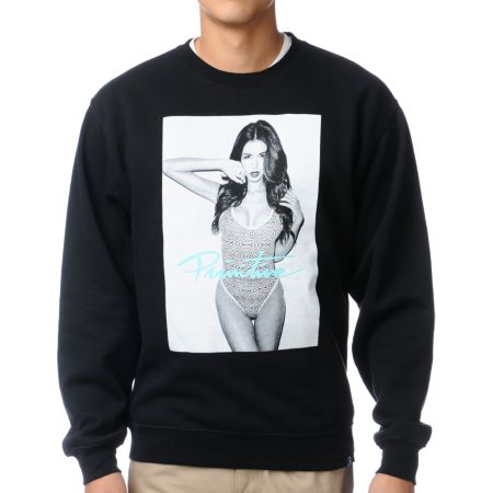 Primitive Ashley Black Crew Neck Sweatshirt