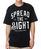 REBEL8 Spread the 8ight Black Tee Shirt