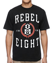 REBEL8 Laural Black Tee Shirt