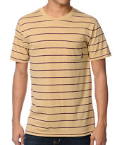 Brixton Hilt Tan Knit Tee Shirt