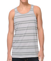 Brixton Sherman Grey Stripe Tank Top