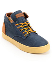 The Hundreds Johnson Mid Navy Linen Skate Shoe