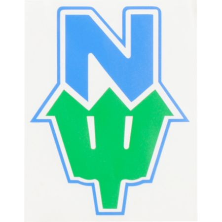 Casual Industrees N.Dub Green & Blue Die Cut Sticker