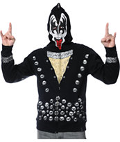 Volcom Kiss Zip Up Gene Simmons Face Mask Hoodie