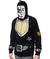 Volcom Kiss Zip Up Paul Stanley Face Mask Hoodie