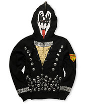 Volcom Boys Kiss Zip Up Gene Simmons Face Mask Hoodie