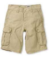 Free World Boys Big Player Khaki Cargo Shorts