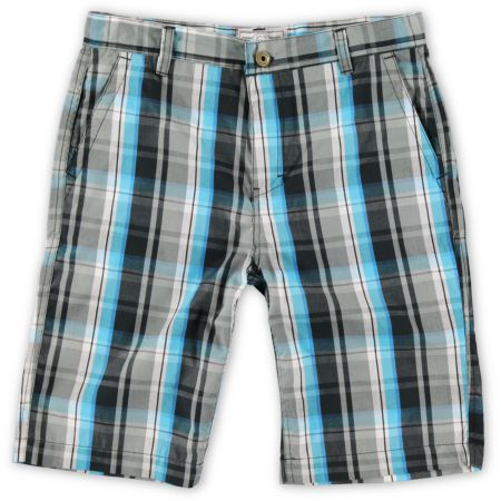 Free World Boys Feelin Teal Plaid Shorts