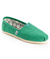 Toms Classics Earthwise Green Vegan Womens Shoe