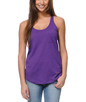Zine Girls Purple Racerback Tank Top