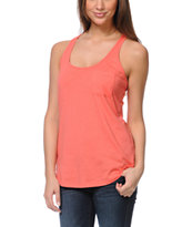 Zine Girls Salmon Coral Racerback Tank Top