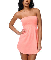 Empyre Girls Neon Coral Strapless Dress