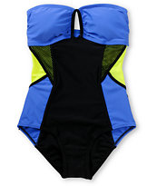 Malibu Sun Block Neon One Piece Swimsuit