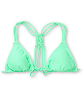 Malibu Candy Coated Mint Triangle Bikini Top